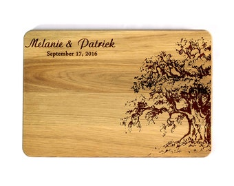 Cutting board Wedding gift Personalized Cutting Board Wedding Family tree Family oak Bridal Shower Gift Wedding Gift for couple Hostess gift