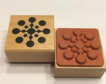 small and large Dots rubber stamp, 20 mm (F1)