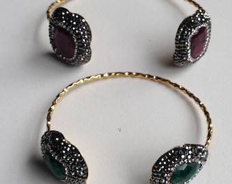 Hand made cuff bangles