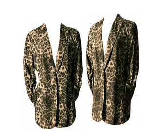 Women's coat, leopard print coat, leopard print, animal print, fashion coat, dress coat, leopard, women's jacket, blazer, retro, ladies coat