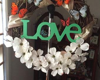 New LOVE wreath handmade