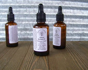 "body oil spray, body oil, essential oil, ""Flower Girl"",natural skincare, dry oil body spray, Exquisite, Natural,  ShackontheRock"