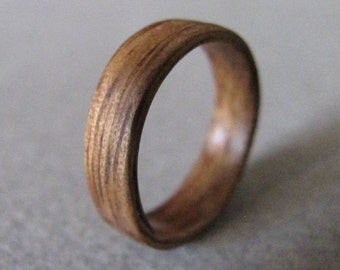 AFRICAN WALNUT BENTWOOD ring / Bentwood ring / Bentwood band / Wood band / Wood ring / Wooden ring / Wooden band / Dark wood ring / Natural