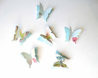 Designer 3D Paper Butterflies, layered butterfly confetti, garden party decor, spring birthday party, limited edition butterflies