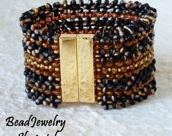 Blackfire Farfalle & Crystal Topaz Bracelet