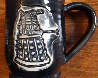 Doctor Who dalek mug, handmade ceramic mug for coffee and tea, 18 oz. #231