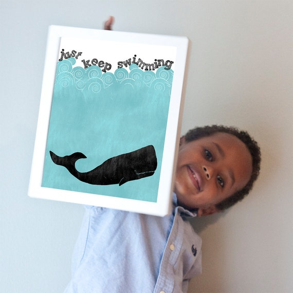 Printable 8x10 Just Keep Swimming