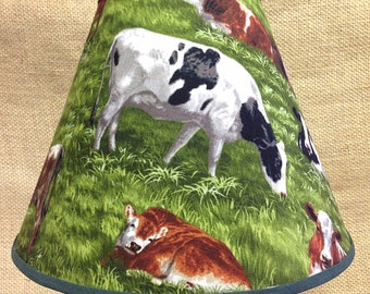 Cow Lamp Shade Holstein Lampshade
