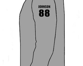 Player Name & Number add on to long or short sleeve - Gorilla Baseball