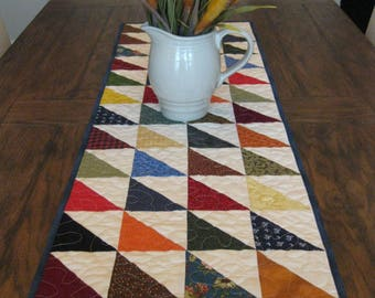 CLOSE OUT SALE Quilted Triangles Table Runner