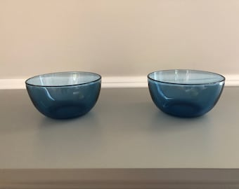 Vintage blue bowls