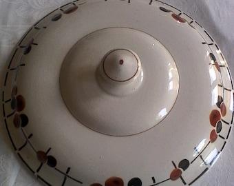 TUREEN lid / / St Amand earthenware / / Art Deco / / 1930