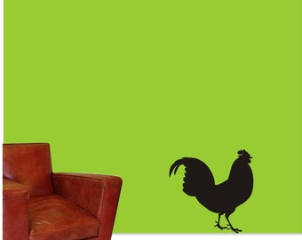 Rooster Wall Vinyl Decal - Floorboard Rooster Sticker - Kitchen or Living Room Wall Vinyl Rooster