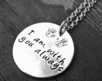 Custom Sterling 2-sided Thick Disc Necklace - Your Choice of 12 Fonts, 325 Symbols
