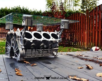 Rover V8 Engine Table- Unique Upcycled Coffee Table
