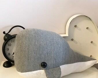 Medium Whale Pillow