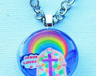 JESUS LOVES YOU rainbow.