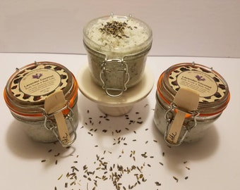 Lavender Coconut Body Scrub & Bath Salt