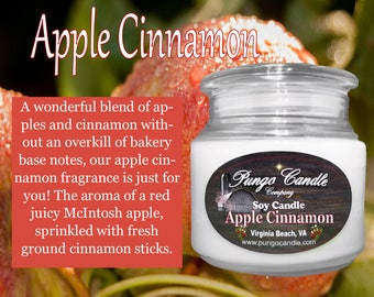 Apple Cinnamon Scented Soy Jar Candle (16 oz.)