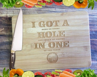 Hole In One - Personalised Engraved Bamboo Chopping Board