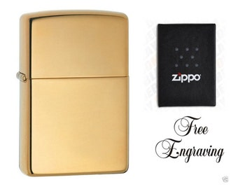 Personalized High Polished Brass Zippo Lighter - Engraved Free