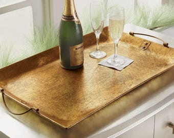 Gold Foil Serving Tray - With or without a mongram - Home decor
