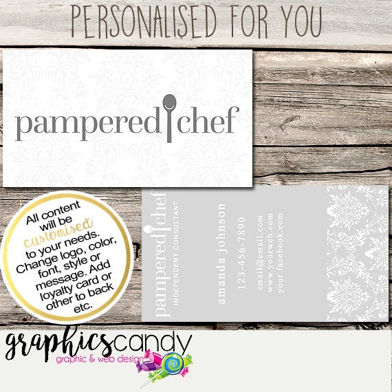 Pampered chef independent consultant business card design pampered chef independent consultant business card design business cards multi level marketing mlm free shipping usa only colourmoves Images