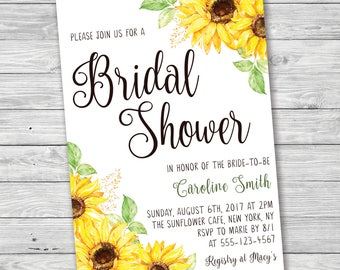 Sunflower baby shower invitation digital invitation sunflower bridal shower invitation printable invitation summer bridal shower invitation sunflower baby shower filmwisefo Images