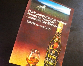 Vintage spanish cognac TERRY ad from a spanish 1972 magazine