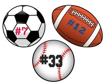 Custom Temporary Tattoos - Sports - Football, Soccer, Baseball