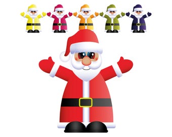 Manga Santa Clipart: christmas decorations, christmas clipart, christmas ornaments, father christmas clipart, cute santa, cute santa clipart