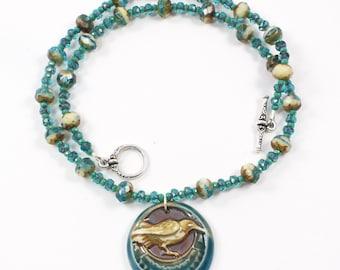 Raven Bird Necklace | Raven Pendant Necklace | Nature Pendant Necklace | Raven Jewelry | Crow Bird Necklace  | Solana Kai Designs