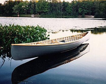 SnowShoe 14: Plans ONLY for a performance-oriented wood frame ultralight canoe