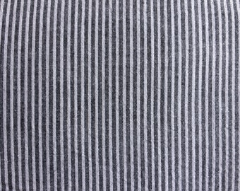 Grey and White Cotton Stripe