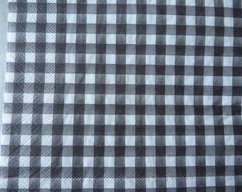 Black and white checkered napkin