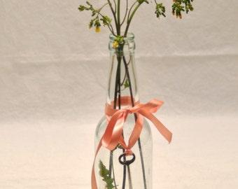 Decorated Bottle w/ Skeleton Key