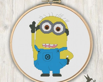 Stitch Minion Cute Cross Stitch Pattern Needlecraft