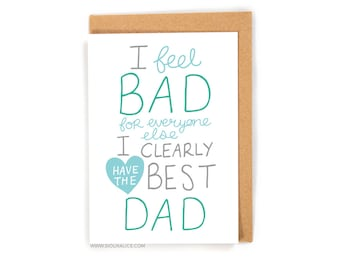 Funny fathers day card, dad you're the best, dad, Sioux Alice happy birthday card, daddy, greetings card card for dad parent