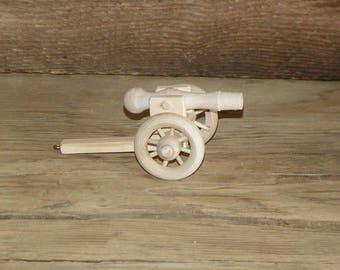 Wooden Toy Model Cannon Civil War Union Confederate Artillery Piece