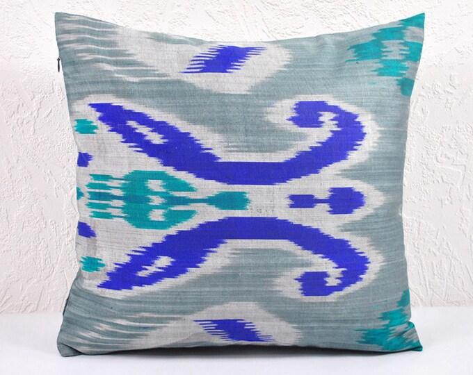 Ikat Pillow, Hand Woven Ikat Pillow Cover  IP6 (spi475), Ikat throw pillows, Designer pillows, Ikat Pillow, Decorative pillows