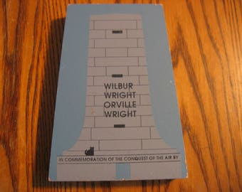 Cat's Meow Wooden Plaque of the WRIGHT BROS. MONUMENT
