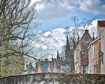 Bridge over Water-Brugge Belgium,Fine Art Photography-multiple sizes available-landscape-Bridges-Gift-Photography-