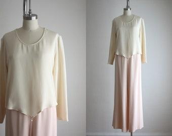 pearl silk blouse