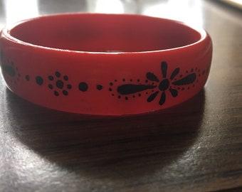 Handpainted Red Bangle