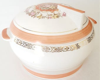 Mismatched China Covered Serving Bowl Triumph Limoges USA Prince Charles Pattern  Floral Design For Dining, Collectable, Replacement,