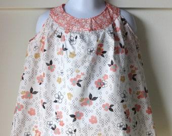 Pink Floral Print A Line Dress Size 2