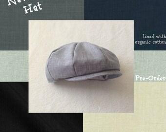 Baby Boy Hat, Toddler Boy Hat, Ring Bearer, Newsboy Hat, Baby Hat, Baby Boy Prop, Infant Hat, Boys Cap, Baby Boy Clothes, Toddler Boy Hat