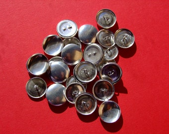 Cover Buttons - Size 60 (38mm) - Wire back - Pack of 10