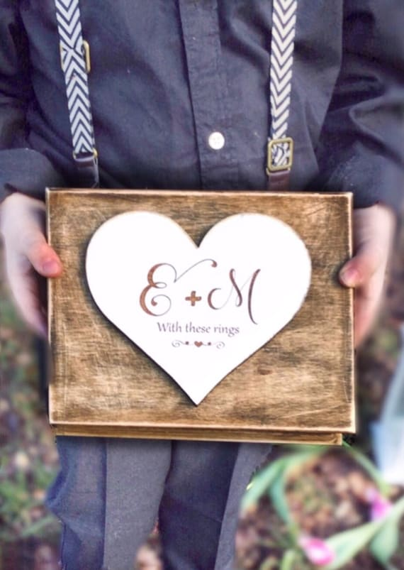 Ring bearer box wedding ring box Double wedding ring box