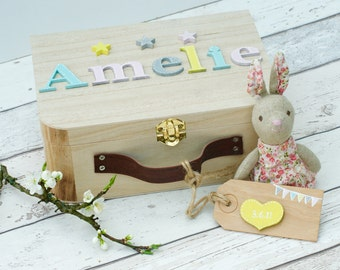 Personalize Child Wooden Toy Box Etsy